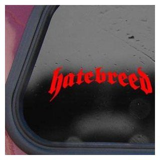 Hatebreed Red Sticker Decal Metal Rock Band Laptop Die cut Red Sticker Decal   Decorative Wall Appliques