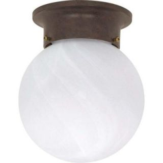 Glomar 1 Light   6 in. Ceiling Mount Alabaster Ball Old Bronze HD 259
