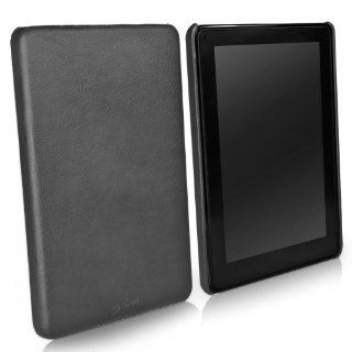BoxWave Kindle Fire Leather Minimus Case   Low Profile, Slim Fit Textured Leather Snap Shell Cover   Kindle Fire Cases and Covers (Jet Black) Kindle Store