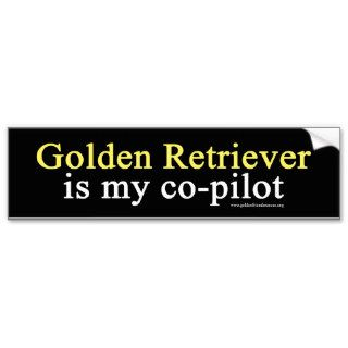 Golden Retriever Co Pilot Bumper Sticker