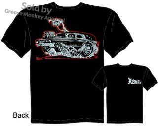 SIZE 2XL Hot Rod Hearse T Shirt Kustom Kulture Apparel Tattoo Tee