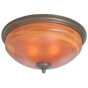 Hampton Bay Aspen 2 Light Heritage Bronze Flush Mount Light 14812