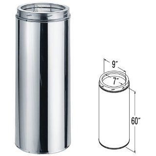 7'' x 60'' DuraTech Stainless Steel Chimney Pipe   9509CF   Ducting Components