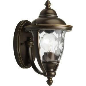 Progress Lighting Prestwick Collection Wall Mount 1 Light Outdoor Oil Rubbed Bronze Lantern P5920 108DI