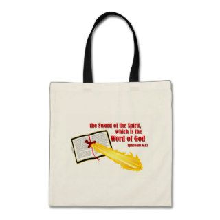 sword of the spirit christian gift canvas bags