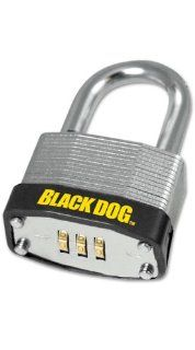 Black Dog 55164 3 Digit Resettable Combination Padlock, 1 1/2 Inch