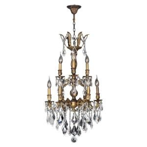 Worldwide Lighting Versailles Collection 9 Light Crystal and Antique Bronze Chandelier W83342B19