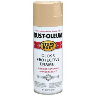 Rust Oleum Stops Rust 12 oz. Protective Enamel Gloss Sand Spray Paint (6 Pack) 7771830