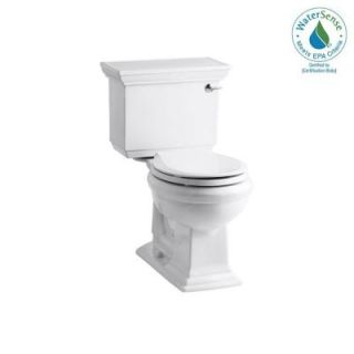 KOHLER Memoirs Stately 2 Piece Round Toilet with Right Hand Trip Lever in White K 3933 RA 0