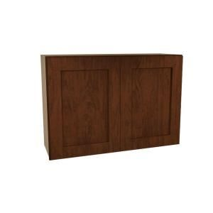 Home Decorators Collection Assembled 30x24x12 in. Wall Double Door Cabinet in Franklin Manganite Glaze W3024 FMG