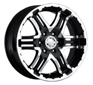 Gear Alloy Double Pump 18x9 Black Wheel / Rim 6x5.5 with a 30mm Offset and a 107.95 Hub Bore. Partnumber 713MB 8908430 Automotive