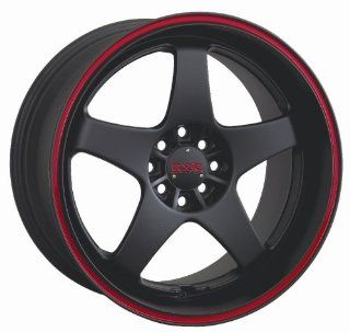 17 9 XXR 962 Black Red Stripe Rims Wheels 240sx S13 89 SET OF 17 INCH XXR WHEELS 4X100 and 4X114.3 OFFSET 35 Automotive