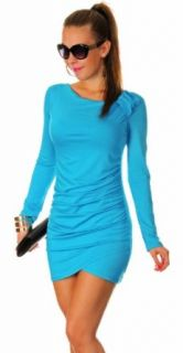Glamour Empire Women's Stretch Bodycon Jersey Long Sleeve Tunic Dress Grey Dress