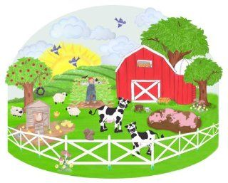 Barnyard Wall Mural & Farm Animal Wall Decal for Kids Room   Childrens Wall D?cor