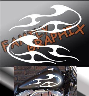 "Motorcycle Flames Gas Tank Flame Decals Harley 13""x5.5"" Flm122"
