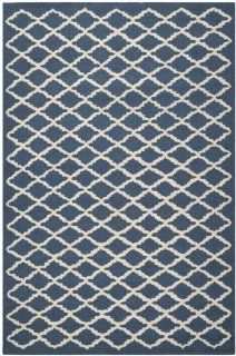 Safavieh CAM137G Cambridge Collection Handmade Wool Area Rug, 4 by 6 Feet, Navy and Ivory