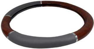 Steering Wheel Cover   Dark Wood Grain Automotive