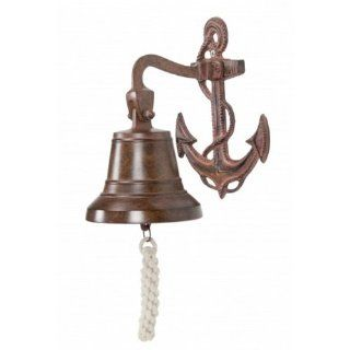 "Antique Solid Brass Anchor Bell 8""   Brass Hanging Bell   Decorative Brass Bell   Anchor Decoration   Brass Anchor   Nautical Bell   Beach Decoration   Boat Bells"