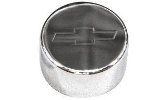 Billet Custom (GMBC 148 EMB POL) Polished Washer Fluid Cap with Bowtie Logo for Chevrolet Camaro Automotive