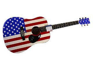Phish Autographed Signed Flag Guitar & Proof UACC & PSA Phish Entertainment Collectibles