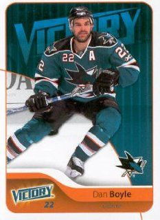 2011 12 Upper Deck Victory Hockey #159 Dan Boyle San Jose Sharks NHL Trading Card Sports Collectibles