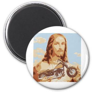 Jesus Harley Love Fridge Magnets