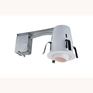 Commercial Electric 4 in. Non IC Remodel Recessed Lighting Kit DISCONTINUED HBR2000R/205WH