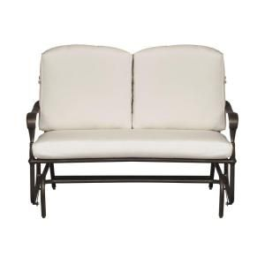 Hampton Bay Edington Patio Double Glider with Bare Cushion 131 012 DBL GLDR NF