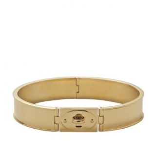 Fossil Turnlock Bangle Gold Tone Jf00102710m Clothing