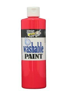 Handy Art by Rock Paint 211 154 Washable Paint 1, Fluorescent Red, 16 Ounce