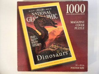 National Geographic Magazine Cover Puzzle The Mongolian Saurolophus Dinosaur Vol. 183, No. 1, January 1993 Toys & Games
