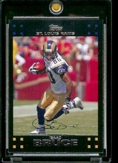2007 Topps Football # 186 Isaac Bruce   St. Louis Rams   NFL Trading Cards Sports Collectibles