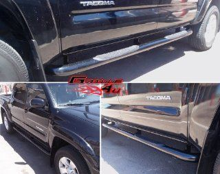 Fits 2005 2013 Toyota Tacoma Double Cab Black Nerf Bars # TB2058B Automotive