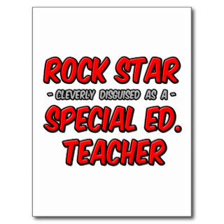 Rock StarSpecial Ed. Teacher Post Card