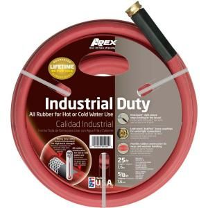 Apex 5/8 in. x 25 ft. Red Rubber Commercial Hot Water Hose 8695 25