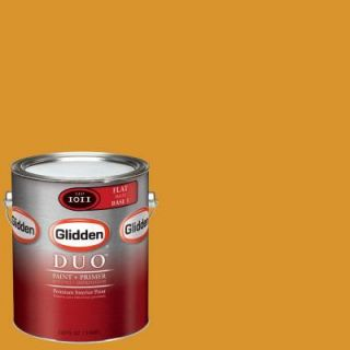 Glidden Team Colors 1 gal. #NFL 179D NFL Pittsburgh Steelers Gold Flat Interior Paint and Primer NFL 179D F 01