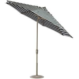 Home Decorators Collection 7.5 ft. Auto Tilt Patio Umbrella in Maxim Forest Sunbrella with Champagne Frame 1548820690