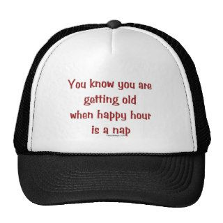 Senior's Happy Hour Trucker Hats