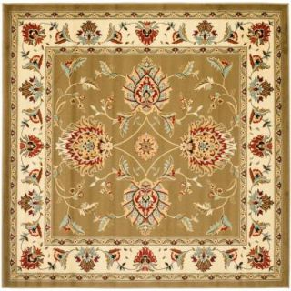 Safavieh Lyndhurst Green/Ivory 6 ft. 7 in. x 6 ft. 7 in. Square Area Rug LNH555 5212 7SQ