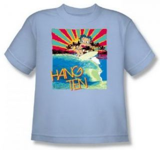 Boop Hang Ten Youth Light Blue T Shirt BB634 YT Clothing