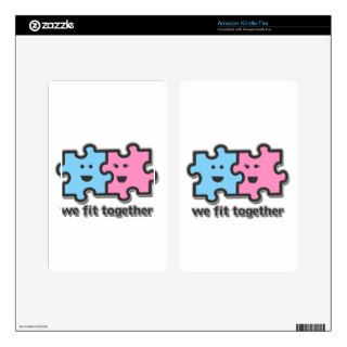 We Fit Together Puzzle Pieces Kindle Fire Decal