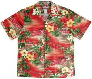 Island Leisure Life Men's Hawaiian Aloha Cotton Shirt at  Men�s Clothing store