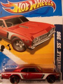 Hot Wheels 2012 10/10 Muscle Mania   GM '67 Chevelle SS 396 110/247 (RED) Toys & Games