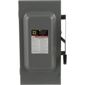 Square D by Schneider Electric 100 Amp 240 Volt Two Pole Indoor General Duty Fusible Safety Switch with Neutral D223N