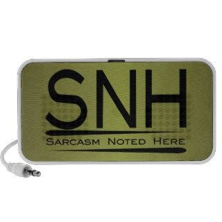 SNH Sarcasm Noted Here Notebook Speaker