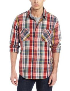Weatherproof Vintage Men's Poplin Plaids with Contrast Trim Shirt at  Men�s Clothing store