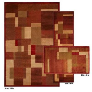 Mohawk Home Timmins Rust 8 ft. x 10 ft. 3 Piece Rug Set DISCONTINUED 299439
