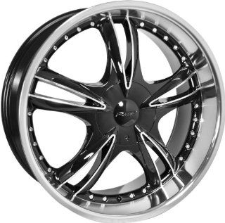 "22x8.5 Forte F59 ""Black Nickel"" (Black Mirror) Wheels/Rims 5x105/110 (F59 228508BM) Automotive"