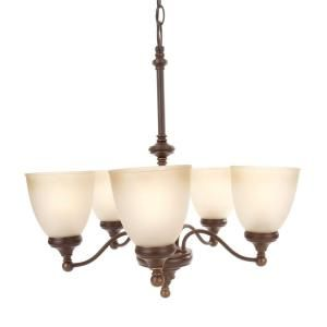 Hampton Bay Bristol Collection 5 Light Nutmeg Bronze Chandelier FNK8115A 3