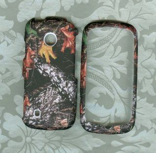 Camo Winter Leaf Rubberized Snap on Hard Phone Cover Case Accesory Lg Cosmos Touch, Attune, Vn270, Mn270 Verizon . U.s. Cellular Cell Phones & Accessories